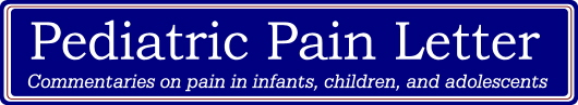 Pediatric Pain Letter